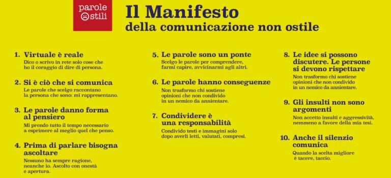 NORZ aderisce al Manifesto della comunicazione non ostile