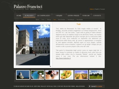 Palazzo Francisci website